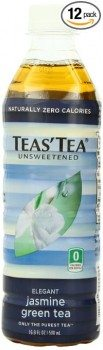 Teas' Tea, Unsweetened Jasmine Green Tea, 16.9 Ounce (Pack of 12) Deal
