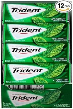 Trident Sugar Free Gum, Spearmint,18-Count (Pack of 12) Deal