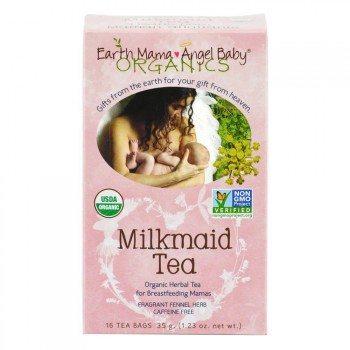 Earth Mama Angel Baby Organic Milkmaid Nursing Tea, 16 Teabags Box (Pack of 3) Deal