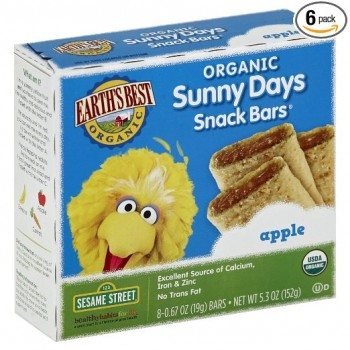 Earth's Best Organic Sunny Days Snack Bars, Apple, 8 Count (Pack of 6) ( 5.3 oz Packets ) Deal