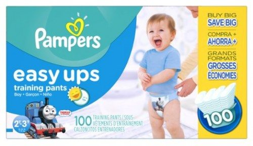 Pampers Easy Ups Training Pants Diapers for Boys, Value Pack, Size 2T3T, 100 Count Deal