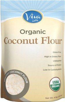 Viva Labs Organic Coconut Flour Non-GMO, and Gluten-Free, 4 lb Bag Deal
