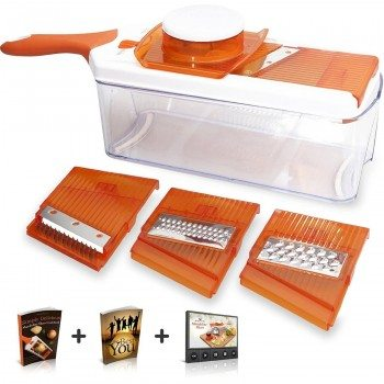 Adjustable Mandoline Slicer - 4 Blades - Vegetable Cutter, Peeler, Slicer, Grater & Julienne Slicer Deal