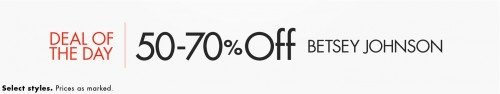 Betsey Johnson Clothing, Handbags, Shoes + More Deal