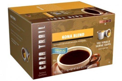 Caza Trail Coffee, Kona Blend, 100 Single Serve Cups Deal