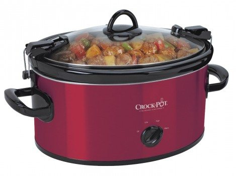 Crock-Pot SCCPVL600-R Cook' N Carry 6-Quart Oval Manual Portable Slow Cooker, Red Deal