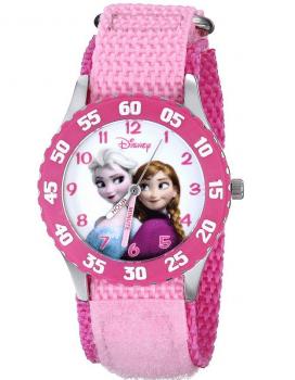 Disney Kids' W000970 Frozen Snow Queen Watch with Pink Nylon Band Deal
