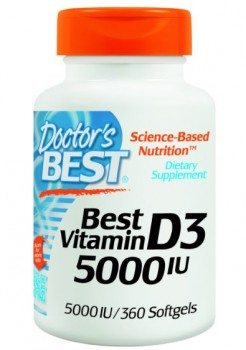 Doctor's Best Vitamin D3 5000iu Soft-gels, 360-Count Deal