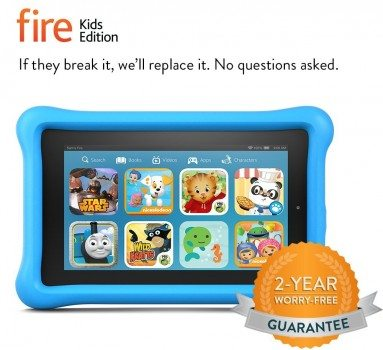 Fire Kids Edition, 7 Display, Wi-Fi, 8 GB, Blue Kid-Proof Case Deal