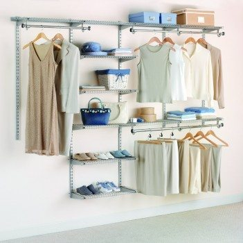 Rubbermaid Configurations Custom Closet Deluxe Kit, Titanium, 4-8 Foot, FG3H8900TITNM Deal
