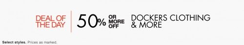 Docker's Clothing and More Deal