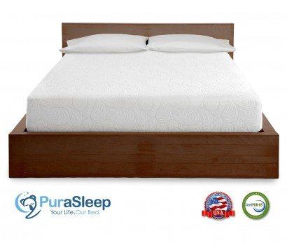 PuraSleep 10 Inch CoolFlow Memory Foam Mattress Deal