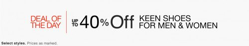 Keen Shoes for Men & Women Deal