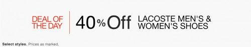 Lacoste Men's & Women's Shoes Deal