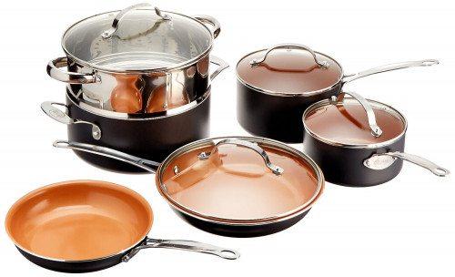 Gotham Steel 10-Piece Kitchen Nonstick Frying Pan and Cookware Set Deal