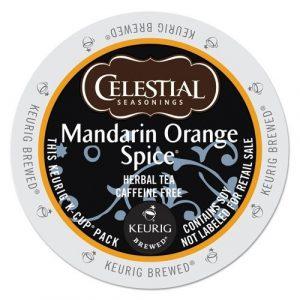Celestial Seasonings Mandarin Orange Spice Herbal Tea, K-Cup Portion Pack for Keurig K-Cup Brewers, 24-Count Deal