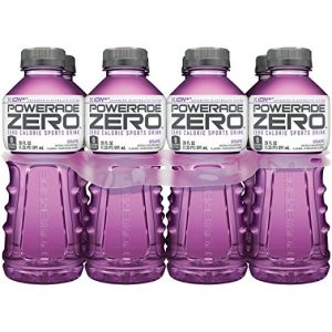 POWERADE ZERO Grape Bottles, 20 Fluid Ounce (Pack of 8) Del