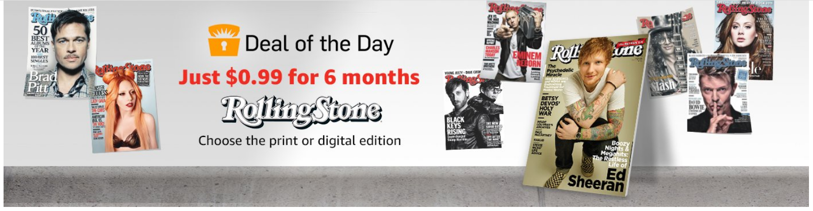 Rolling Stone Magazine Deal