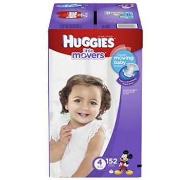 HUGGIES Little Movers Diapers, Size 4, 152 Count Deal