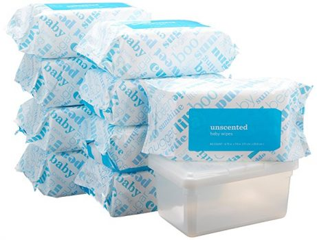 Amazon Elements Baby Wipes, Unscented, 720 Count, Resealable Packs with Tub Deal