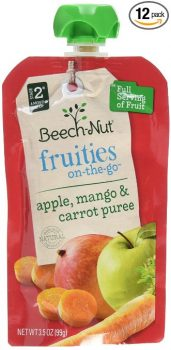 Beech-Nut Fruities On-the-Go, Baby Food, Stage 2, Apple, Mango & Carrot, 3.5 Ounce Pouch (Pack of 12) Deal