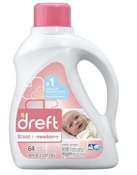 Dreft Stage 1 Newborn Hypoallergenic Liquid Baby Laundry Detergent (HE), 100 Ounces (64 loads) Deal