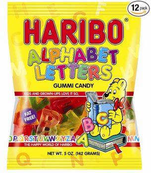 Haribo Gummi Candy, Alphabet Letters, 5-Ounce Bags (Pack of 12) Deal