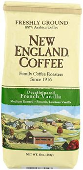 New England Coffee French Vanilla, Decaffeinated, 10 Ounce Deal