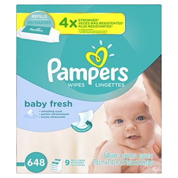 Pampers Baby Wipes Baby Fresh 9X Refill, 648 Diaper Wipes Deal