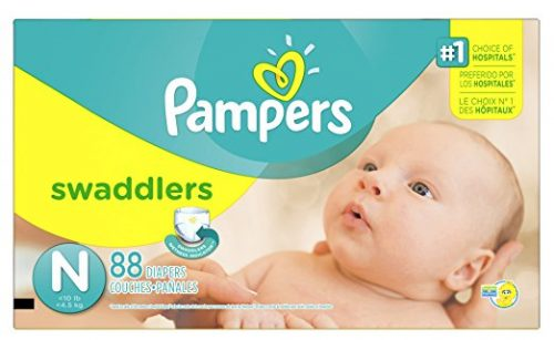 Pampers Swaddlers Newborn Diapers Size 0, 88 Count Deal