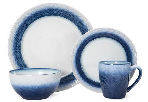 Pfaltzgraff Eclipse Blue 16-Piece Stoneware Round Dinnerware Set Deal