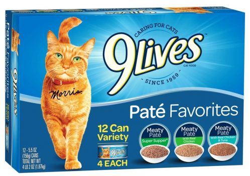 9 Lives Pate Favorites Variety Pack Canned Cat Food, Pack of 12 Cans, 5.5 Ounce Deal