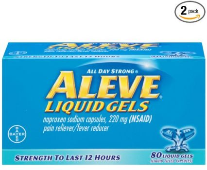 Aleve Liquid Gels, 80 Count (Pack of 2) Deal