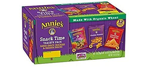 Annie's Variety Snack Pack, Cheddar Bunnies:Friends Bunny Grahams:Cheddar Squares, Baked Snack Crackers, 12-Count, 11 oz Deal