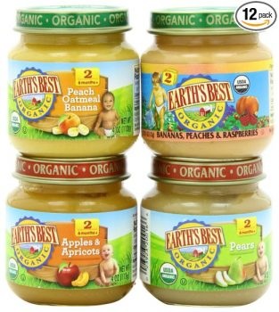 Earth's Best Organic Stage 2, Favorite Fruits Variety Pack, 12 Count, 4 Ounce Jars