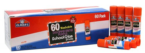 Elmer's Disappearing Purple School Glue, Washable, 60 Pack, 0.24-ounce sticks Deal