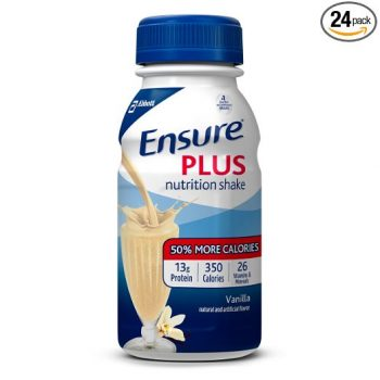Ensure Plus Nutrition Shake, Vanilla, 8 ounces, 24 count Deal