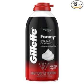 Gillette Foamy Shaving Cream, Original, 11 Ounce (Pack of 12)