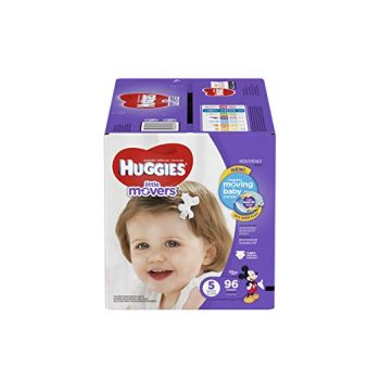 HUGGIES Little Movers Diapers, Size 5, 96 Count Deal