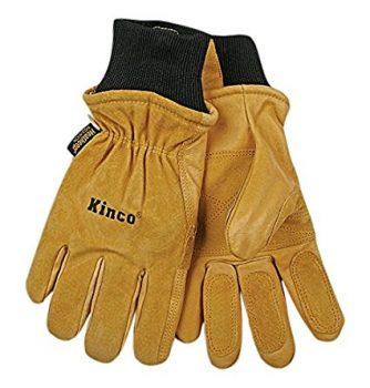 KINCO 901-M Men's Pigskin Leather Ski Glove, Heat Keep Thermal Lining, Draylon Thread Deal