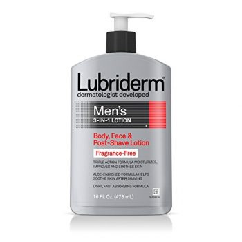 Lubriderm Men's 3-In-1 Fragrance-Free Lotion, 16 Fl. Oz.