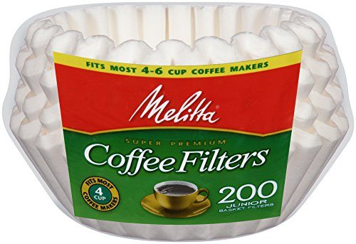 Melitta Basket Coffee Filters, Jr. White,, 200 Count Deal