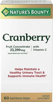 Nature's Bounty Triple Strength Cranberry with Vitamin C, 25,200 mg, 60 Softgels