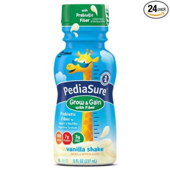 PediaSure Nutrition Drink with Fiber, Vanilla, 8-Ounce (Pack of 24)
