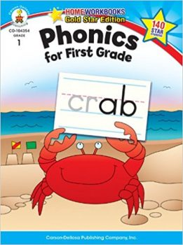 Phonics for First Grade, Grade 1- Gold Star Edition (Home Workbooks)
