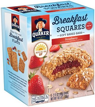 Quaker Breakfast Squares, Soft Baked Bars, Variety Pack (4 Count)
