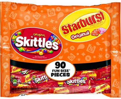 Skittles and Starburst Original Candy Bag, 90 Fun Size Pieces, 39.1 ounces Deal