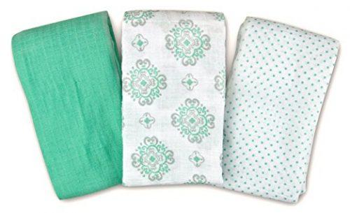SwaddleMe Muslin Swaddle Blankets 3-PK
