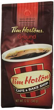 Tim Horton's 100% Arabica Medium Roast Original Blend Ground Coffee, 12 Ounce Deal