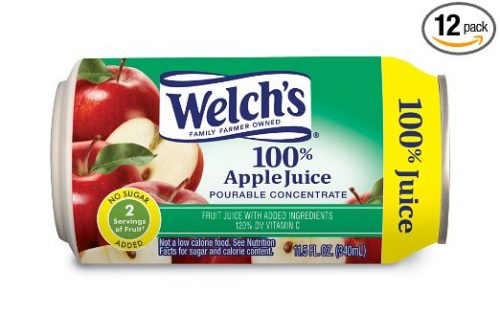 Welch's 100% Apple Juice Concentrate, 11.5-Ounce Cans (Pack of 12) Deal